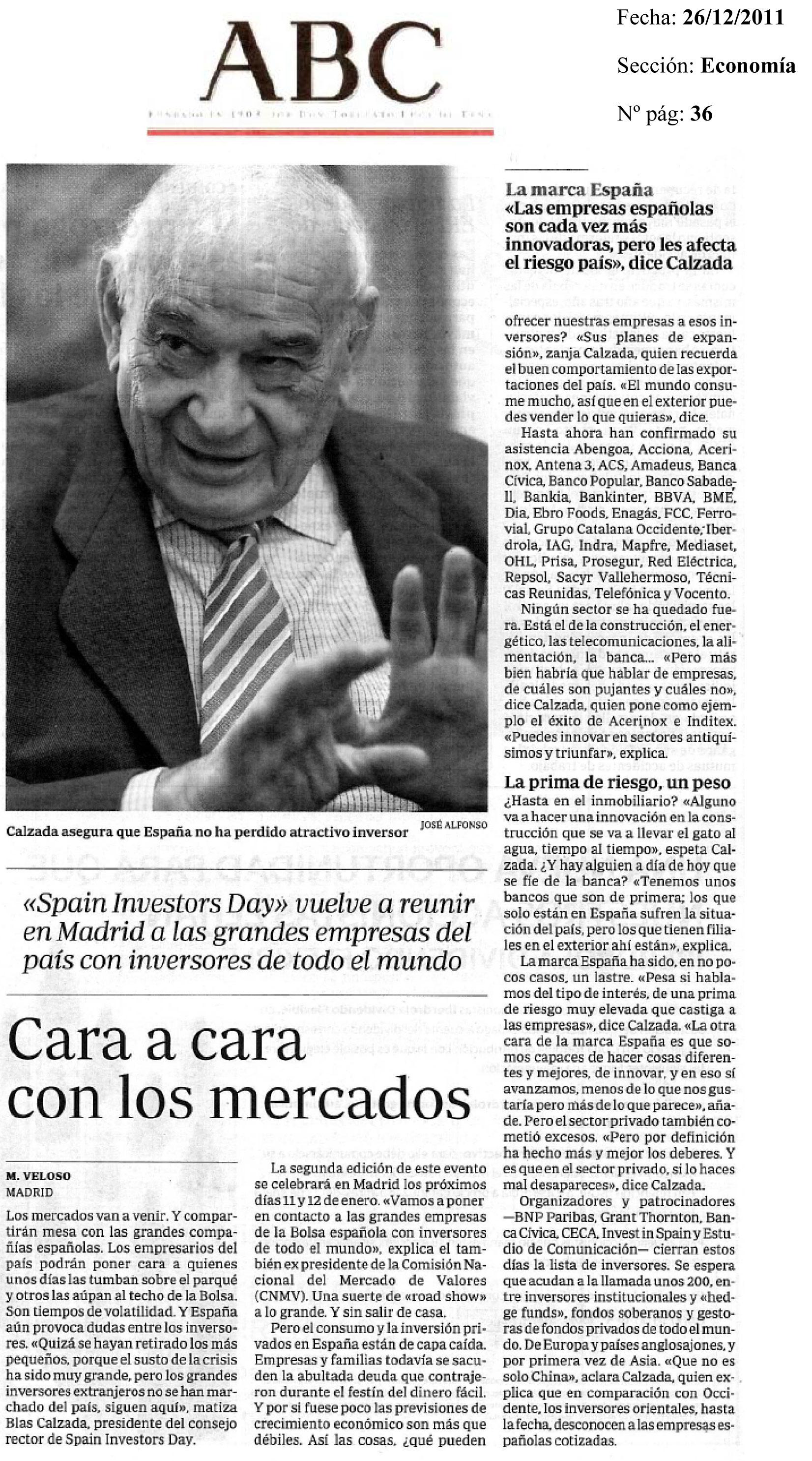Noticias En Prensa ABC 26 12 2011
