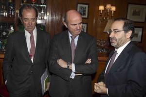 Almuerzo de Spain Investors Day en el hotel Ritz de Madrid con el ministro de Economia Luis De Guindos( SID )