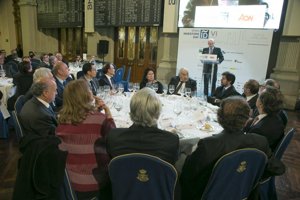 Cena SID en la Bolsa de Madrid ofrecida por AON